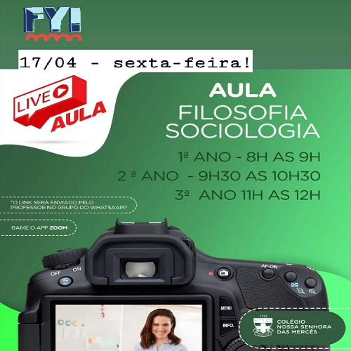 LIVE AULA FILOSOFIA E SOCIOLOGIA