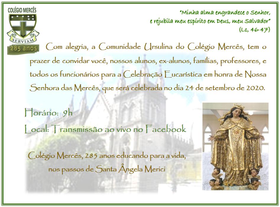 CONVITE COLÉGIO MERCÊS 285 ANOS