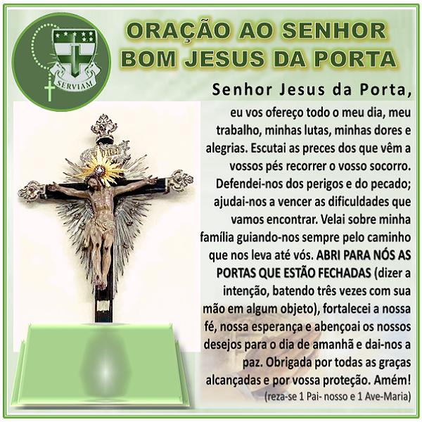 ORAÇÃO DO SENHOR BOM JESUS DA PORTA