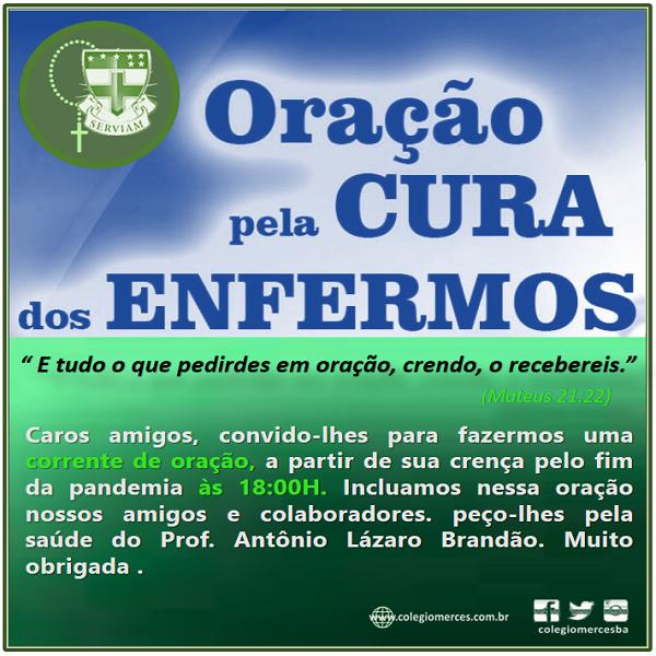 ORAÇÃO PELA CURA DOS ENFERMOS